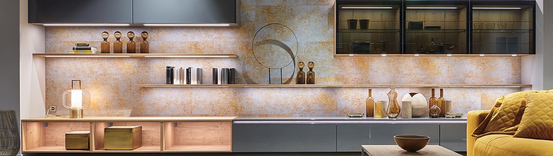 Moderne Wohnzimmer bei 1-2-3-Küchen Puerto de la Cruz,Teneriffa